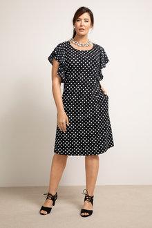 Plus Size - Sara Ruffle Sleeve Dress