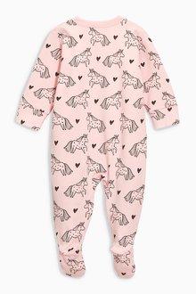 Next Unicorn Sleepsuits Three Pack (0mths-2yrs)