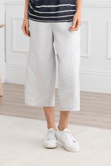 Grace Hill Wide Leg Linen Cargo Pant - 207175