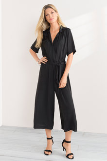 Grace Hill Culotte Wrap Jumpsuit