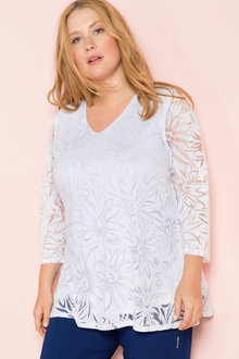 Plus Size - Sara Burnout Top