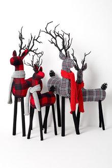 Tartan Reindeer Ornament
