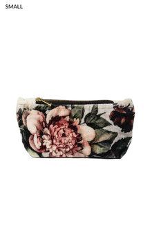 Floral Velvet Pouch