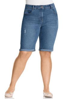 Plus Size - Sara Cuffed Denim Short