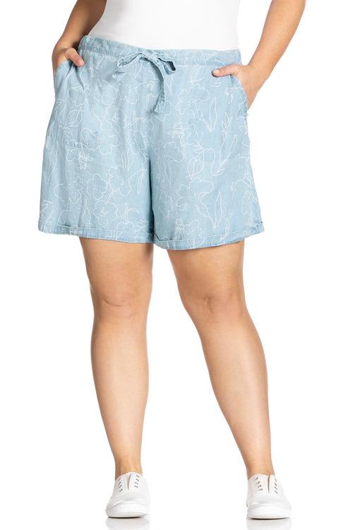 Plus Size - Sara Chambray Short