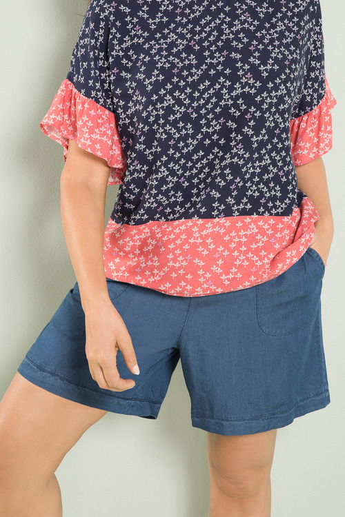 Plus Size - Sara Chambray Short