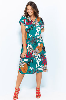 Plus Size - Sara Keyhole Dress