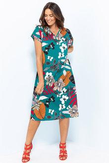 Plus Size - Sara Keyhole Dress - 207226