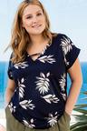 Plus Size - Sara T-Bar Top