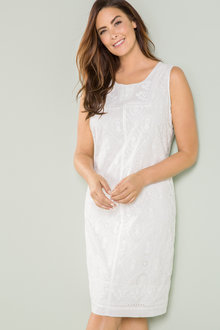 Plus Size - Sara Cotton Broderie Dress