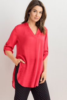 Capture Textured Longline Tunic Shirt