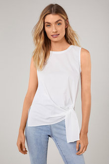 Capture Stretch Cotton Poplin Tank - 207246