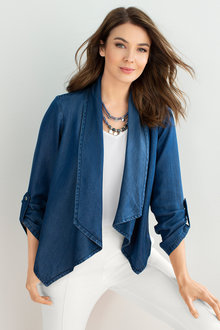 Capture Denim Drape Jacket