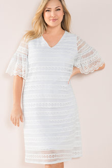 Plus Size - Sara Stretch Lace Dress - 207270