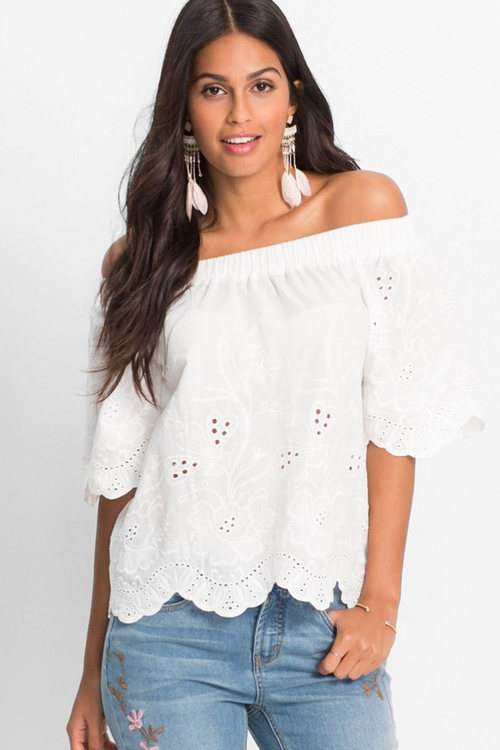 Urban Embroidered Off Shoulder Top