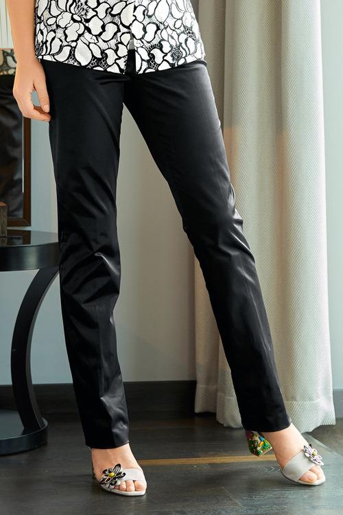 Heine Satin Straight Leg Pants