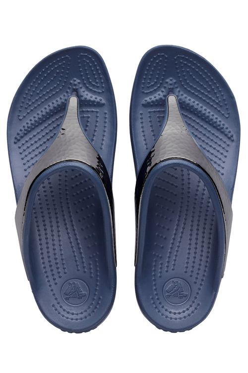 Crocs Sloane Hammered Metallic Flips