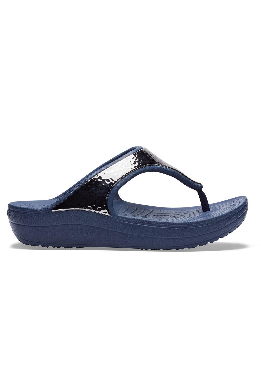 Choose SZ//Color Crocs Women/'s Sloane Hammered Metallic Platform Flip