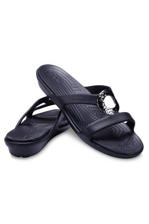Crocs Sanrah Hammered Metallic Sandal