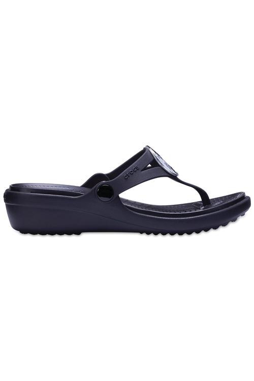 Crocs Sanrah Hammered Metallic Wedge Flip