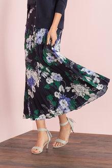 Grace Hill Pleat Maxi Skirt