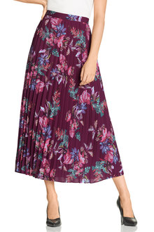 Grace Hill Pleat Maxi Skirt - 207336