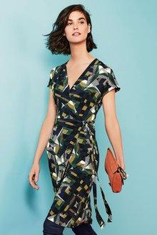 Next Print Wrap Dress - Tall