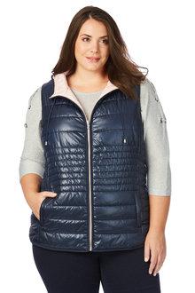 Plus Size - Beme Sleevless Puffer Vest