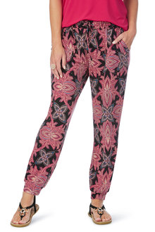 Rockmans Ankle Length Floral Print Pant