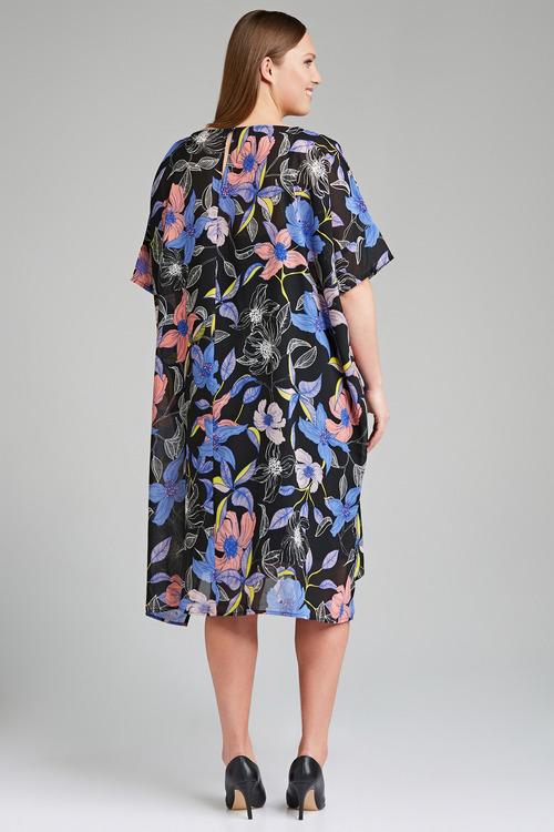 Plus Size - Sara Chiffon Tunic Dress