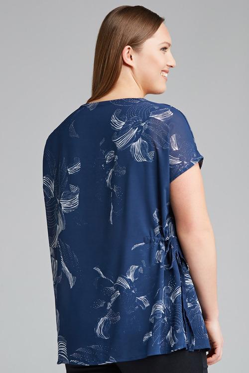 Plus Size - Sara Side Tie Top
