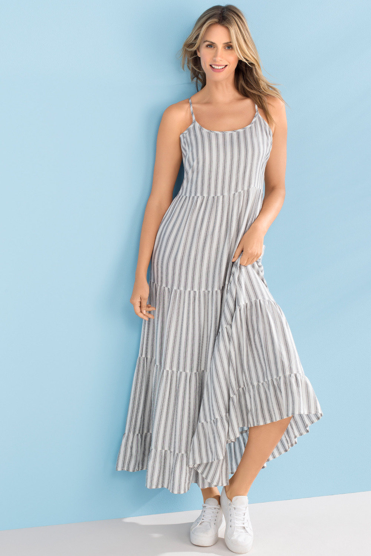742d736b Capture Tiered Maxi Dress Online | Shop EziBuy