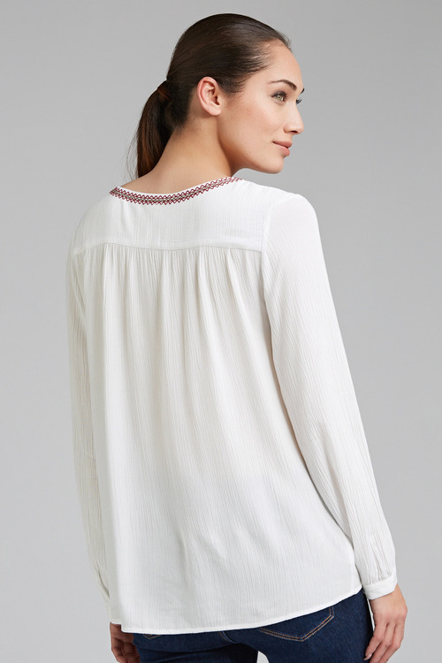 Emerge Button Neck Blouse