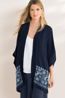 Grace Hill Drape Kimono - 207853