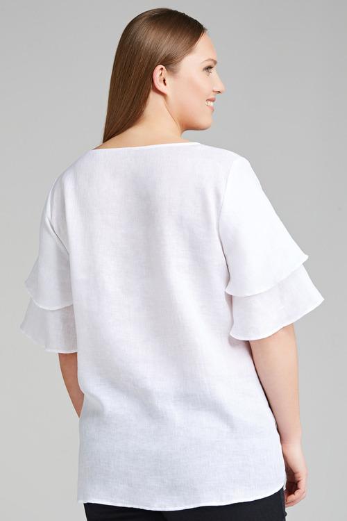 Plus Size - Sara Linen Bell Sleeve Top