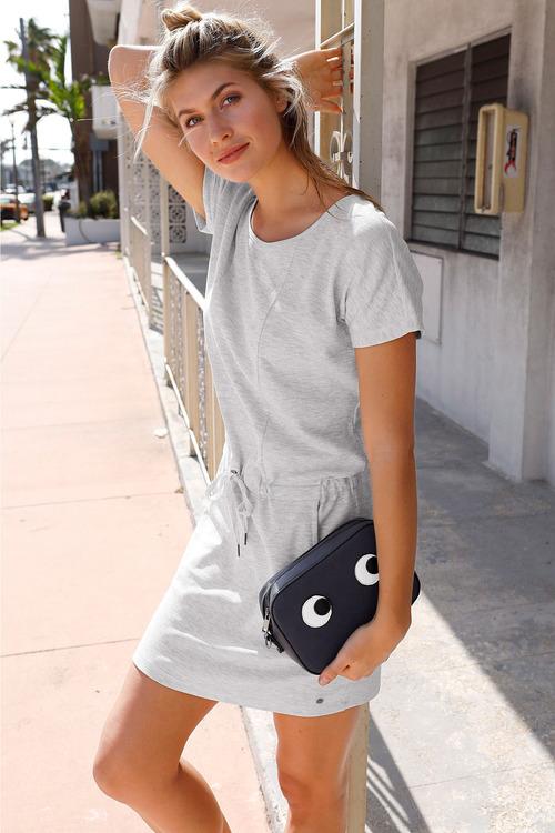 Urban Drawstring Pocket Dress