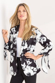 Grace Hill Tie Sleeve Blazer