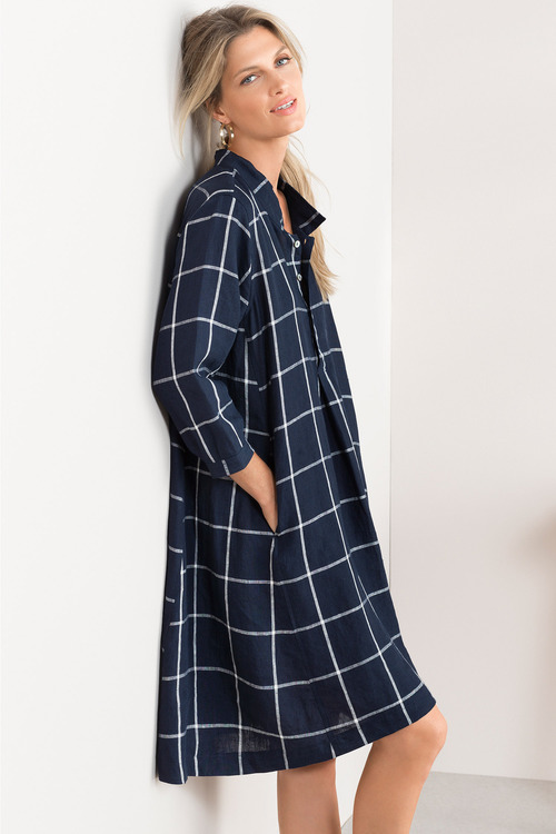 Grace Hill Linen Swing Dress