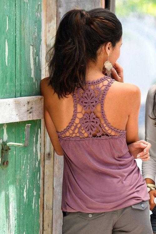Urban Crochet Back Drape Top