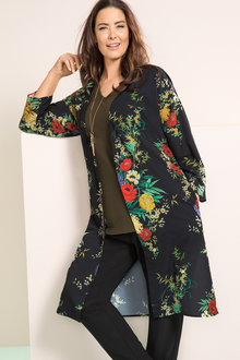 Plus Size - Sara Longline Duster Jacket