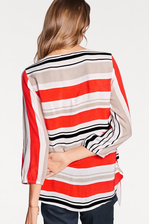 Heine Stripe Wrap Blouse