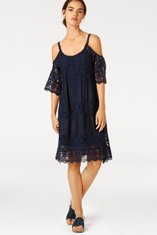Heine A Line Lace Patchwork Dress