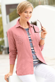 Capture European Faux Suede Shirt Jacket