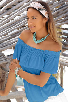 Urban Ruffle Off Shoulder Top - 207938