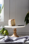 Round Marble and Timber Cake Stand