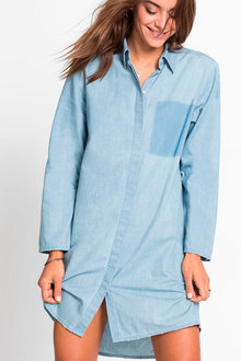 Urban Chambray Shirt Dress - 207971