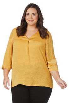 Plus Size - Beme Satin Shirt