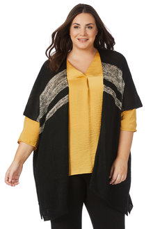 Plus Size - Beme Gold Cardigan