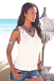 Urban Tie Back Lace Singlet
