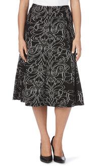 Noni B Paisley A Line Skirt